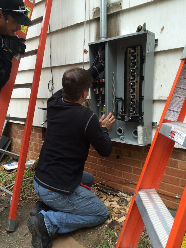 Installing electrical service