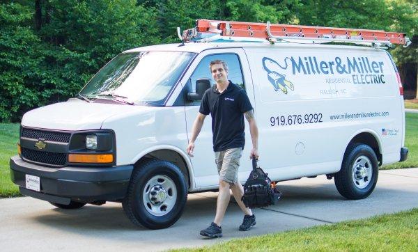 Miller and Miller Electric work van