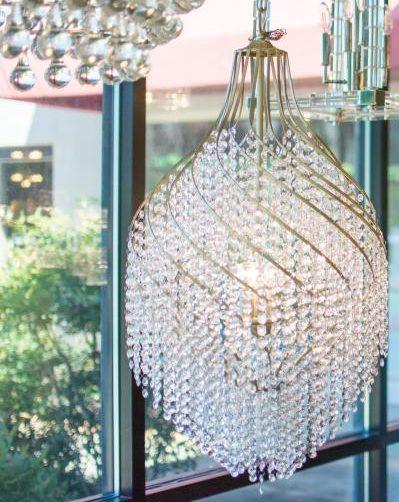Upscale crystal lighting
